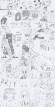 Seventh Grade Notebook [Sketchdump 2006] by NozomiMomuchu