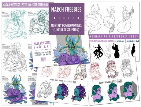 March Freebies by moondustowl