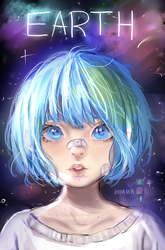 Earth-chan (+SPEEDPAINT) by Antama