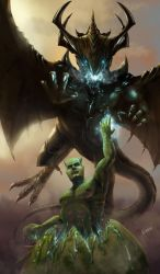 From humanoid to Dragon by Erebus-art