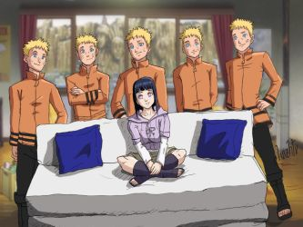 Hinata and Naruto in the living room by luizhtx