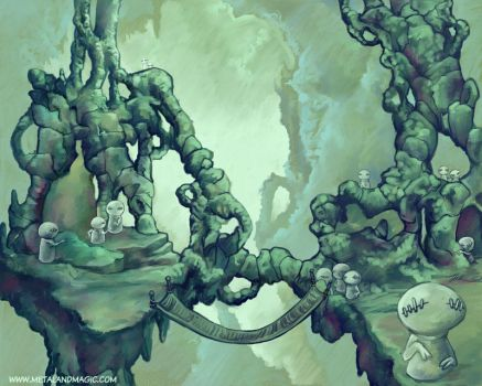 The Jade Gnome City by ursulav