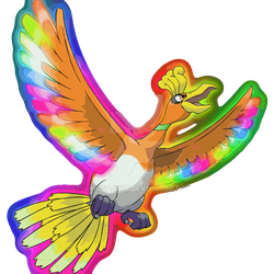 Color Changing Ho-oh by Dragonlord-Daegen