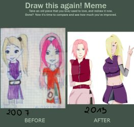 Meme before and after. 6 years! by Owocowe