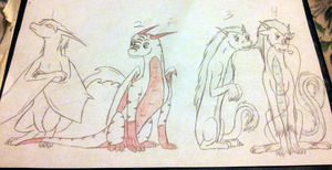Jil's Dragon Forms by Icy-Marth