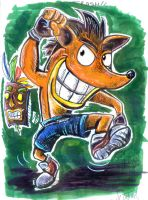 Inktober #1 - Crash Bandicoot by luciano6254