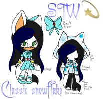 Reference of classic snowflake  by snowflakethewerhog