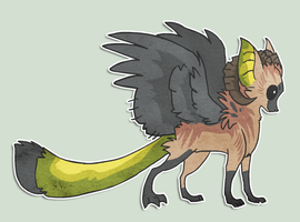 Male Dracavian Example by griffsnuff