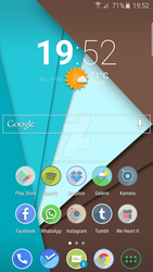 My Galaxy s6 Edge Homescreen by Rimmingboy