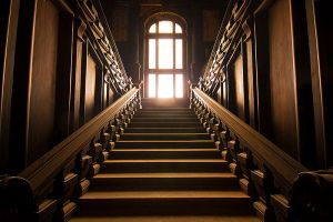 Stairs of gold by mjagiellicz