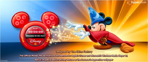 The Mickey Mouse Audio Remote by skinsfactory