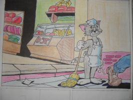 Tom and Jerry comics part by LoveMuf1n