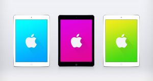 Apple Logo Material Design iPad by JasonZigrino