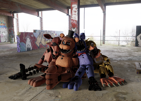 Scrapped Shells (FNAF 2 Withered Cycles) by MegalexMaster