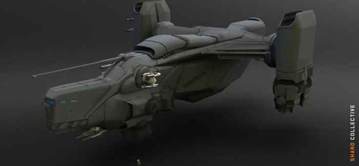 Boomslang gunship Ideation Concept by ikarus-tm