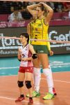 Tall and small Volleyball players by lowerrider