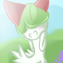 Smiley Ralts by The-SilentNight