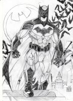 Batman DC Rebirth (pencil) by GabRed-Hat
