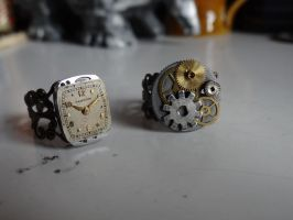 Steampunk rings by Hiddendemon-666