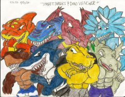 Street Sharks and DinoVengers by Crystalsonicfan