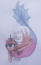 Peach {Old Mermaid Oc Redesigned} by Pusheen-Tfm