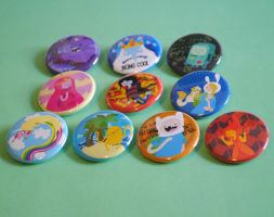 Adventure Time Buttons by radtastical
