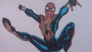 Drawing Spider-Women from The Amazing Spiderman by Megajohnah2