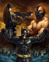 The Dark Knight Rises Shirt Contest Art by PTimm
