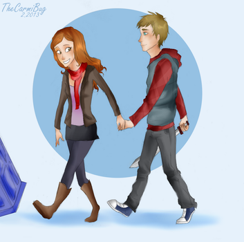 Day 3- Amy and Rory by TheCarmiBug