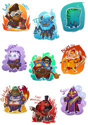 Dota Stickers by TagoVanTor
