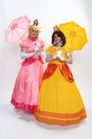 Peach and Daisy 1 'Naka-Kon 2013' by BeCos-We-Can-Cosplay