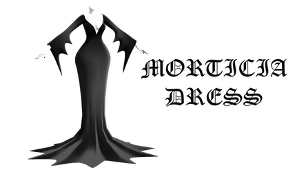MMD DL : Morticia dress download by HoshichoM