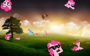 Pinkie everywhere ! by Santzii
