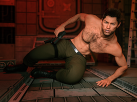 Chris Redfield: In Action by JavierMicheal