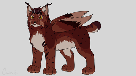 :DT: Winged Lynx by Roi-Chaton-Noir
