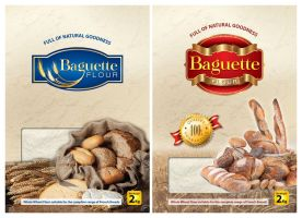 idea for flour package _ french bread by Digital-Saint