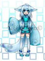 ice/water kemonomimi Adoptable 1 (closed) by TakkuAdopts