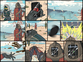 Destiny Comic: The Hunter and the Warlock by Psyentists