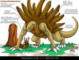 Pokedex 076 - Golem FR