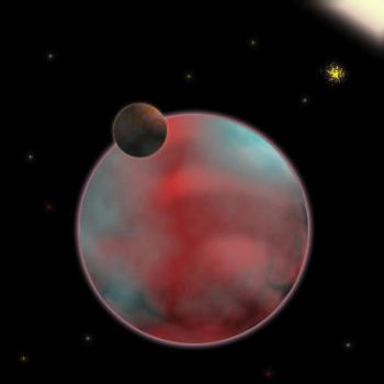 Planet with moon by kalmaster