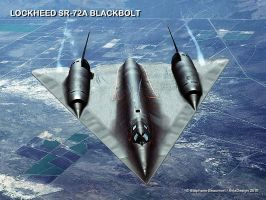 USAF Lockheed SR-72A Blackbolt by Bispro