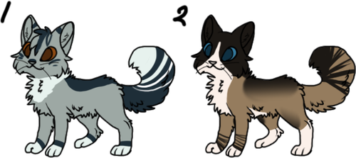 Two Cat Adoptables :CLOSED: by Spiritpie
