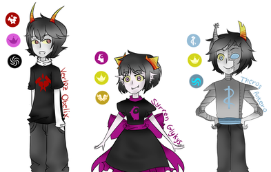 Homestuck OCs: The Stars, The Seas, and The Wind by SimplyDefault