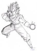 Vegito Big Bang BW by Vegetto90