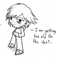 I am getting too old...- Sketch by Rumilax