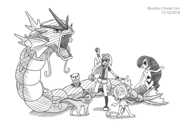 Commission: River's Team by BluuKiss