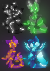 [OPEN] Glowy Cats 60-70 points by VelenieAdopts
