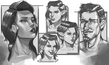 Face Study by DamonGreenhalgh