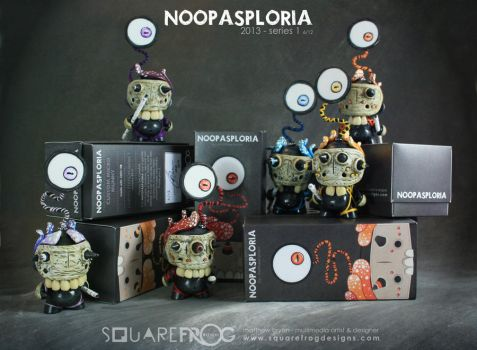 Noopasploria 1 - 6 with boxes by SquareFrogDesigns
