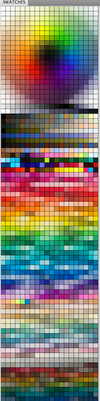 My messy Colour Palette lol - Color Swatch for PS by Pearlpencil